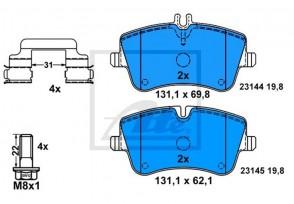 Bremsbelagsatz Bremsbeläge Bremsklötze Vorne MERCEDES ATE 13.0460-2726.2