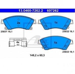 Bremsbelagsatz Bremsbeläge Bremsklötze Vorne CHEVROLET ATE 13.0460-7262.2