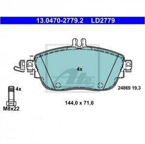 1 x Ceramic Bremsbeläge für MERCEDES-BENZ ATE 13.0470-2779.2