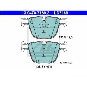 Ceramic Bremsbelagsatz Hinterachse für BMW ATE 13.0470-7169.2