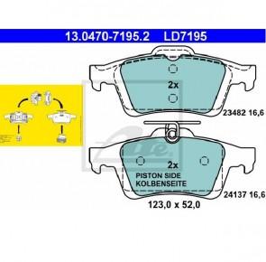 Ceramic Bremsbelagsatz Hinterachse für FORD ATE 13.0470-7195.2