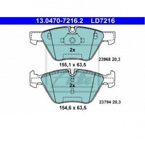 Ceramic Bremsbelagsatz Vorderachse für BMW ATE 13.0470-7216.2