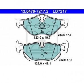 Ceramic Bremsbelagsatz Hinterachse für BMW ATE 13.0470-7217.2