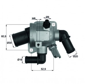 Integralthermostat mit Sensor 88 °C Fiat Alfa Romeo Lancia Opel BEHR TI 173 88