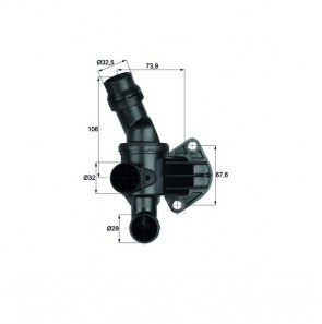 Thermostat für AUDI SEAT SKODA VW BEHR TI 6 87