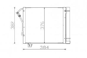 Kondensator für Klimaanlage MAHLE AC 340 000S