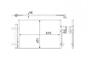 Kondensator für Klimaanlage MAHLE AC 441 000S