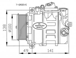 Kompressor Klimaanlage für MERCEDES NRF 32216