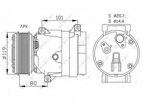 NRF 32481 Kompressor Klimaanlage für NISSAN