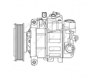 Kompressor für AUDI A4 NRF 32512