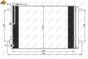 NRF 350059 Kondensator eine Klimaanlage für AUDI
