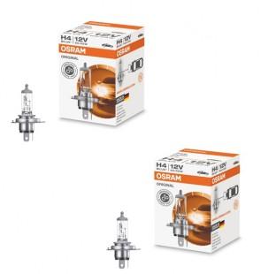 2 x Scheinwerferlampe Halogen Vorne H4 60/55W 12V P43t FS1 OSRAM 64193