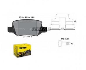 Bremsbelagsatz Scheibenbremse HA TEXTAR 2313805