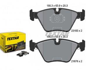 Bremsbeläge Bremsbelagsatz vorne für BMW E46 330d xd i TEXTAR 2318302