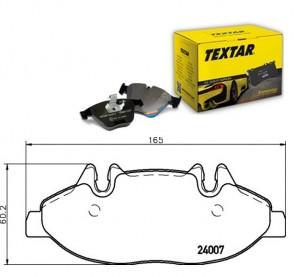 TEXTAR 2400701 Bremsbelagsatz Vorne MERCEDES-BENZ VITO VIANO