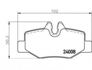 Bremsbeläge Bremsbelagsatz Bremssteine Bremsklötze hinten TEXTAR 2400801