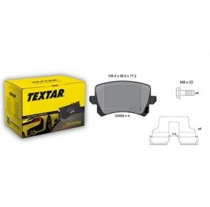 Bremsbelagsatz Scheibenbremse für AUDI SEAT SKODA VW Hinterachse TEXTAR 2448381