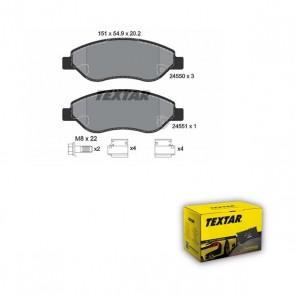 Bremsbelagsatz Scheibenbremse Bremsbeläge vorne für OPEL TEXTAR 2455001