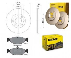 TEXTAR 2x 92029603 + 2054701 Bremsbelagsatz Bremsscheiben PRO VA OPEL DAEWOO