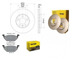 Bremsenkit PRO VA für VW SEAT TEXTAR 92082205 und 2313001