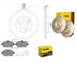 Bremsscheiben PRO mit Bremsbelag vorne TEXTAR 92105905 u. 2314401 u. 98024701