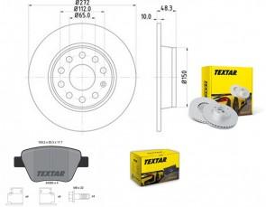 TEXTAR 2x 92224903 + 2456301 Bremsensatz SET PRO hinten VW AUDI SEAT