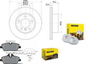 Bremsscheiben mit BELÄGE PRO vorne für BMW TEXTAR 92238403 und 2391503