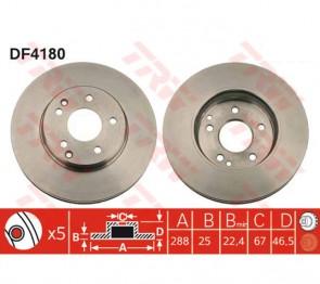 2x Bremsscheiben 288 mm TRW DF4180