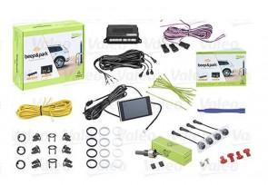 VALEO 632201 Einpark-Assistent 4 Sensor Schwarz Matt mit LCD-Farbanzeige