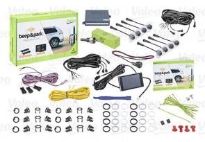 VALEO 632202 Einpark-Assistent 8 Sensor Schwarz Matt mit LCD-Farbanzeige