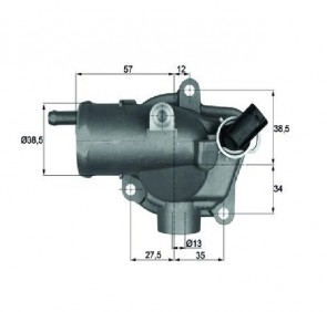 Integralthermostat 92 °C Thermostat MERCEDES E-CLASS MAHLE BEHR TI 27 92