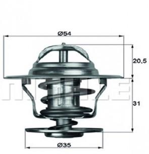 Thermostateinsatz mit Dichtung 87 °C Thermostat AUDI VW FORD BEHR TX 13 87 D