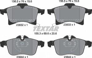 Bremsbeläge Bremsbelagsatz Bremssteine Bremsklötze Vorderachse TEXTAR 2383201