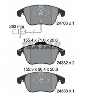 TEXTAR 2470601 vorne BREMSKLÖTZE Bremsbeläge AUDI A4 (B8) / A5