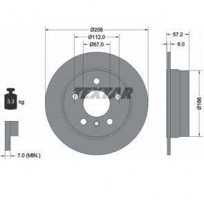 TEXTAR 92132103 x2 Stück Bremsscheibensatz hinten Ø258mm für MERCEDES BENZ