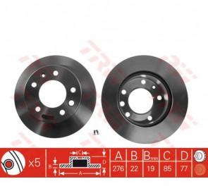 2x Bremsscheibe Satz aus 2 Stk. für MERCEDES BENZ Sprinter TRW DF2790