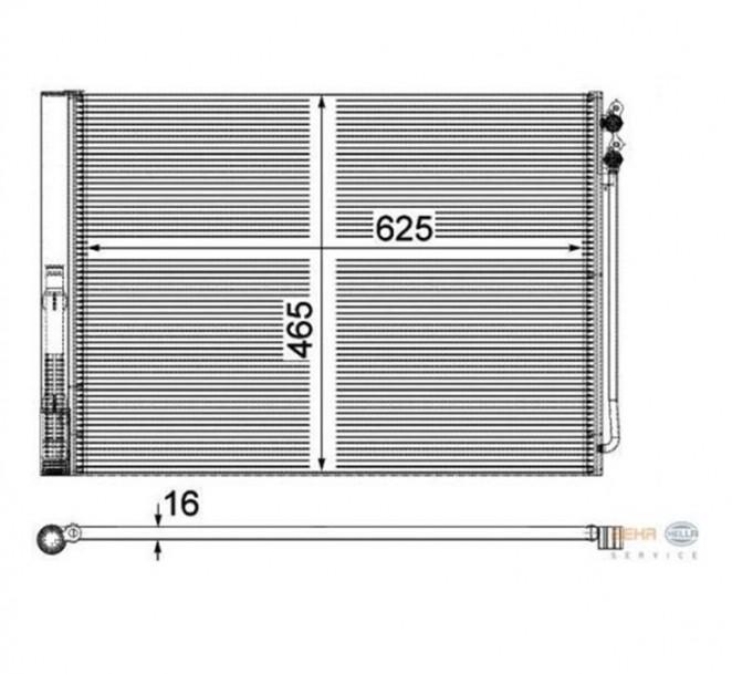 Kondensator Klimaanlage HELLA 8FC 351 309-141