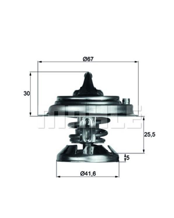 Thermostateinsatz mit DICHTUNG Thermostat 85°C MAHLE BEHR TX 29 85 D