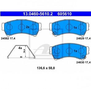 Bremsbelagsatz Bremsbeläge Bremsklötze Vorne MAZDA ATE 13.0460-5610.2