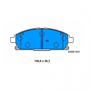 Bremsbelagsatz ATE 13.0460-5842.2
