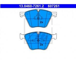 Bremsbelagsatz Bremsbeläge Bremsklötze Vorne ATE 13.0460-7261.2