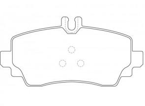 Bremsbelagsatz Vorne DELPHI LP1401