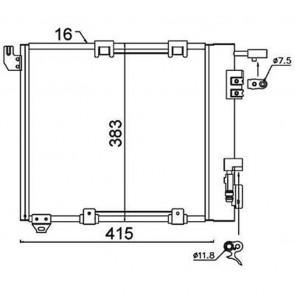 Kondensator Klimaanlage Klimakühler HELLA 8FC 351 301-374