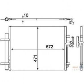 Kondensator Klimaanlage HELLA 8FC 351 303-201