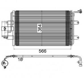 Kondensator für Klimaanlage MAHLE AC 180 000S