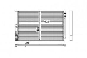 Kondensator für Klimaanlage MAHLE AC 567 000P