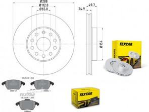 Bremsscheiben PRO mit Bremsbelagsatz vorne TEXTAR 92120805 und 2358701