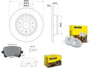 Bremsscheiben PRO mit Bremsbelagsatz hinten TEXTAR 92140803 und 2448301