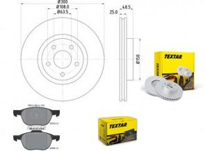 Bremsscheiben PRO mit Bremsbelagsatz vorne TEXTAR 92141303 und 2372301
