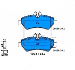 Bremsbelagsatz Bremsbeläge Bremsklötze Hinten ATE 13.0460-3832.2